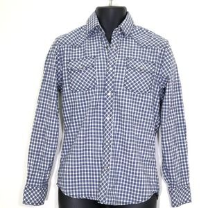 James Campbell Pearl Snap Western Style Shirt Sz S
